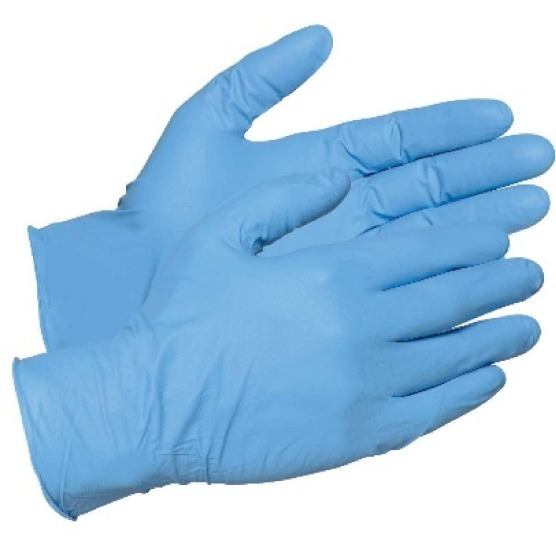 Blue safety gloves